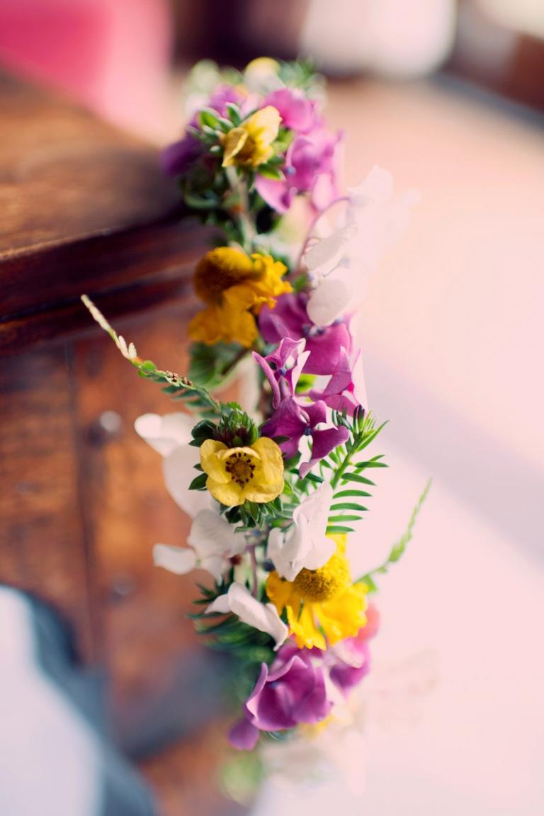 wildflower bridal crown -bohemian wedding - joyeuse photography